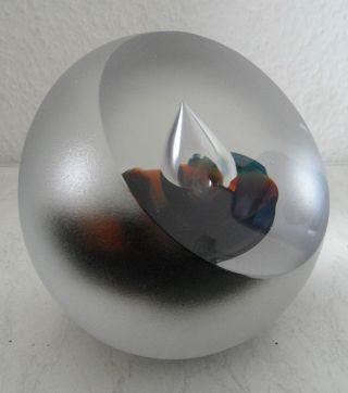 Großes Hochwertiges Design Glasobjekt Glaskugel 82 - 47 Unik Signiert 3,  4kg Bild