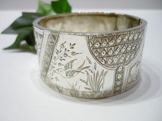 Breiter Antiker Armreifen - 800er Silber - Zarte Filigrane Handarbeit Bild