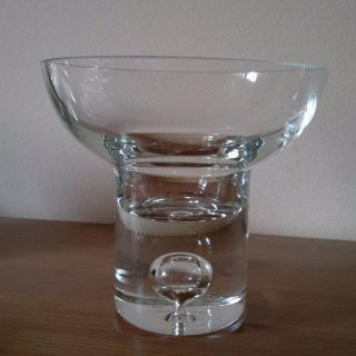 Vintage Iittala Glas Mit Luftblase Glasschale ? Dessertschale ? Bild