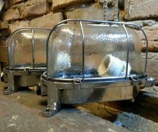 Fabrik Bunker Lampe Ex Industrie Design Lamp Cage Vintage Explosionsgeschützt Bild
