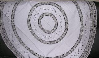 haushalt textilien wei w sche tischw sche tischdecken rund antiquit ten. Black Bedroom Furniture Sets. Home Design Ideas