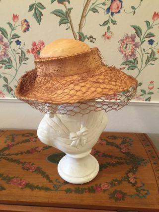 30 Er Jahre Damen Hut Strohhut Bild