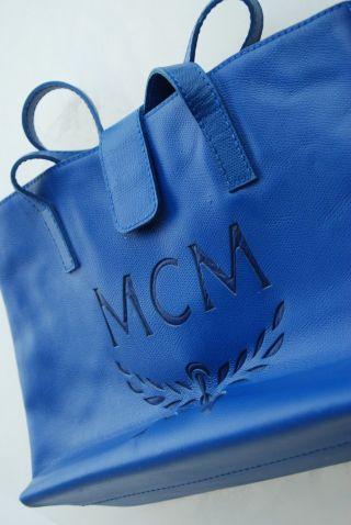 Orig.  Mcm Designer Handtasche Königsblau Top - Unbenutzt Bild