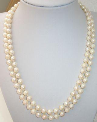 Jugendstil Echte Perlen Kette Perlenkette 333er Gold Verschluß 41 Gr.  Top Bild