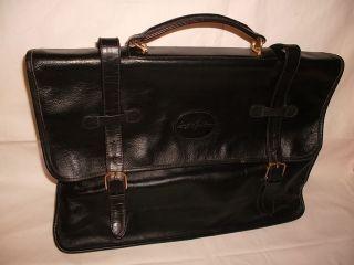 Große Ledertasche Aktentasche Braune Tasche Serge Agostini 40/30cm Vintage 1970 Bild