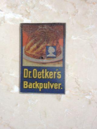 Dr.  Oetker Türschild,  Oetkers ' Backpulver,  Emailleschild,  Tante Emma,  Rar,  Selten Bild