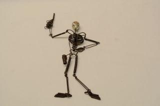 Skelett Mit Kanone,  Metallring Skelett,  Mit Schädel Bild