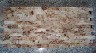 3d Wandverkleidung Aus Pappelmaserholz Holzdeko Einzelriemchen Bild