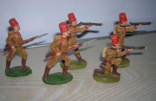 Alte Massefiguren Manz Soldaten Fünf