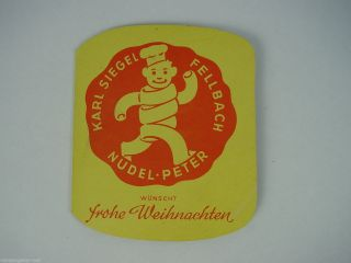 Nadelmappe Nadelheft,  Nähnadeln,  Karl Siegel Fellbach,  Nudel - Peter Reklame Bild