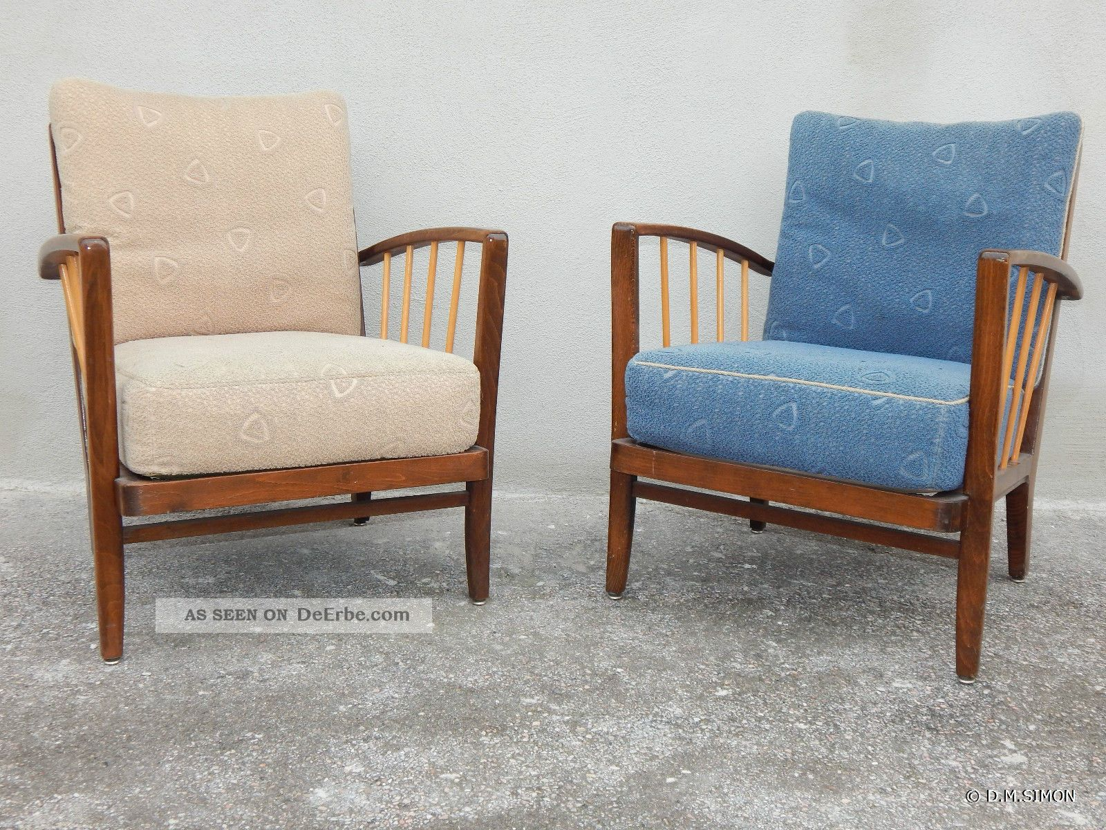 2 Sessel Easy Chair Lounge 50er Jahre Mid Century