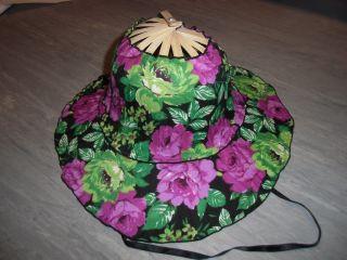 60er Aus Südamerika Sonnenhut Faltbarer Sommerhut Faltbar Hut Frauenhut Damenhut Bild