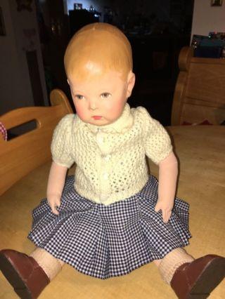 Käthe Kruse Puppe 40iger Jahre Bild