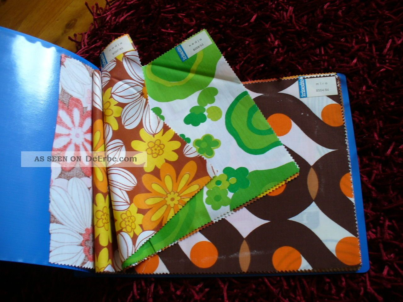 70er jahre irisette musterbuch stoff stoffmuster stoffe vintage 1970. Black Bedroom Furniture Sets. Home Design Ideas