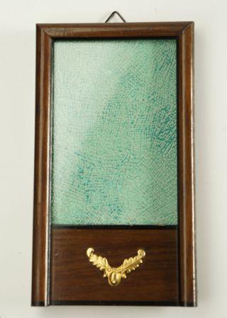 Fotorahmen,  Schellackrahmen,  8x13,  5 Cm,  Mit Glas Und Metallaplikation.  Antik. Bild
