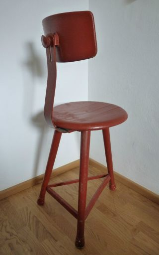 Bauhaus Stuhl Art Deco Architektenstuhl Werkstattstuhl Vintage Chair 30er Bild