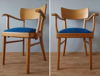 Armlehnstuhl Bauhaus Art Deco Polster Stuhl Holzstuhl Schreibtischstuhl Loft Top Bild