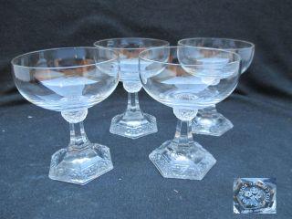 Rosenthal Maria 4 Likörschale 12cm Likörschälchen Glas Gläser Weiß Rosenkante Bild