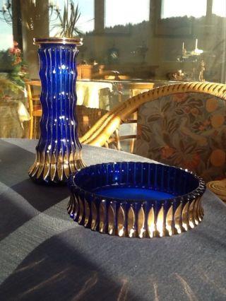 Alte Garnitur Aus Vase Und Schale Bild