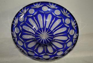Große Und Schwere Kristallglas Schale,  Lausitzer,  Obstschale Bild