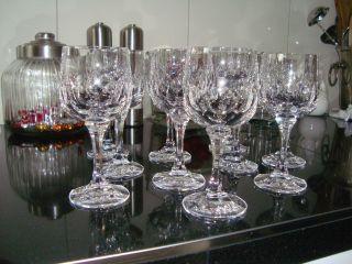 11 St.  Wmf Cristal Kristall Wein Gläser 24 Bleikristall Unbenutzt