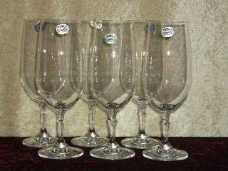 6 Edle Bohemia Kristall Bier - Gläser Brigitta Glas,  Blei,  Sekt,  Wein,  Feier,  Art,  (342) Bild