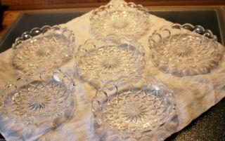 6 Kompott - Schalen Bleikristall,  Schöne Glasarbeiten,  Mas.  Ausführung, Bild