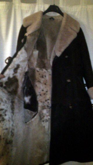 Vintage Zaren Lammfell Damen Mantel7 Dufflecoat - GrÖße: 36 Farbe: Braun Bild