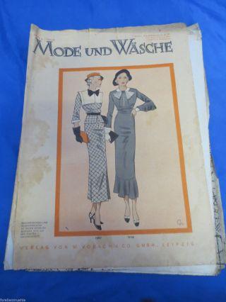 Mode Und Wäsche 1934/35 Heft 4 Mantel Plissee Schlüpfer Kleider Schnittmuster Bild