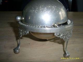 Antike Zuckerkugel Zuckerschale Zuckerdose Alt Metall Deko