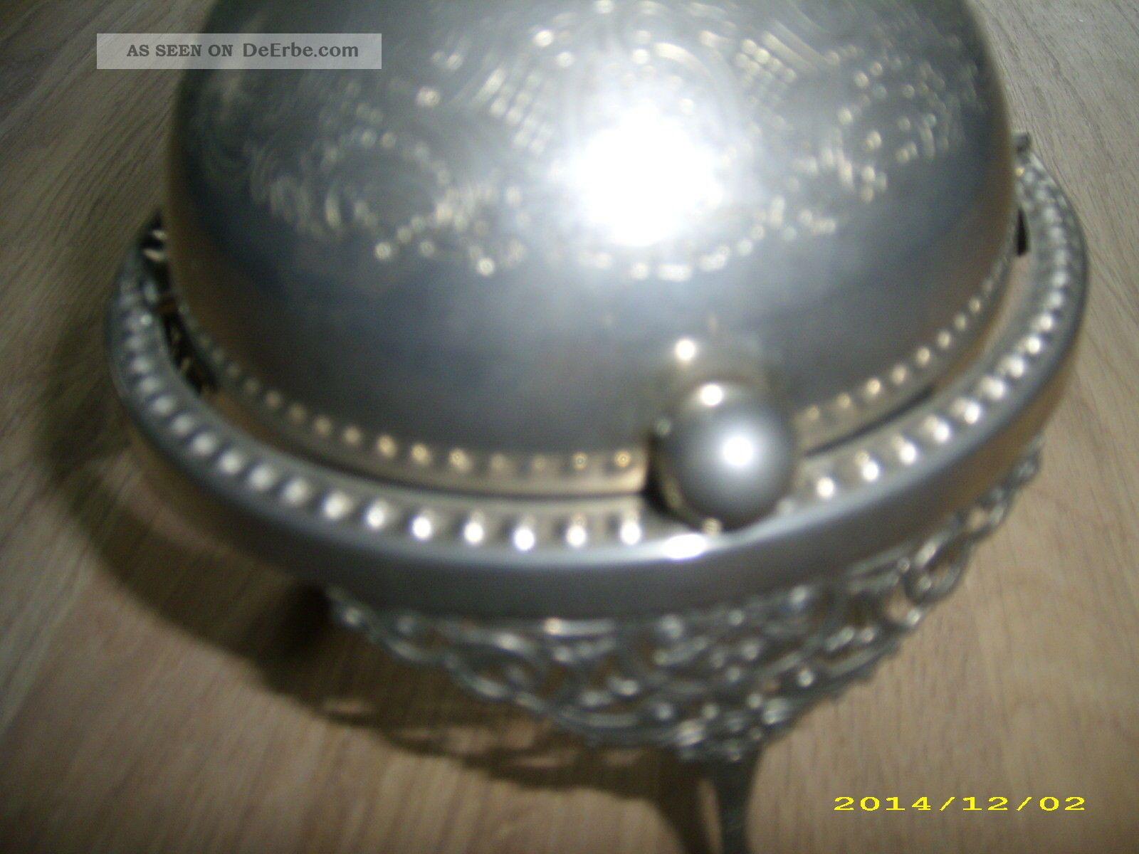 Antike zuckerkugel zuckerschale zuckerdose alt metall deko for Antike deko