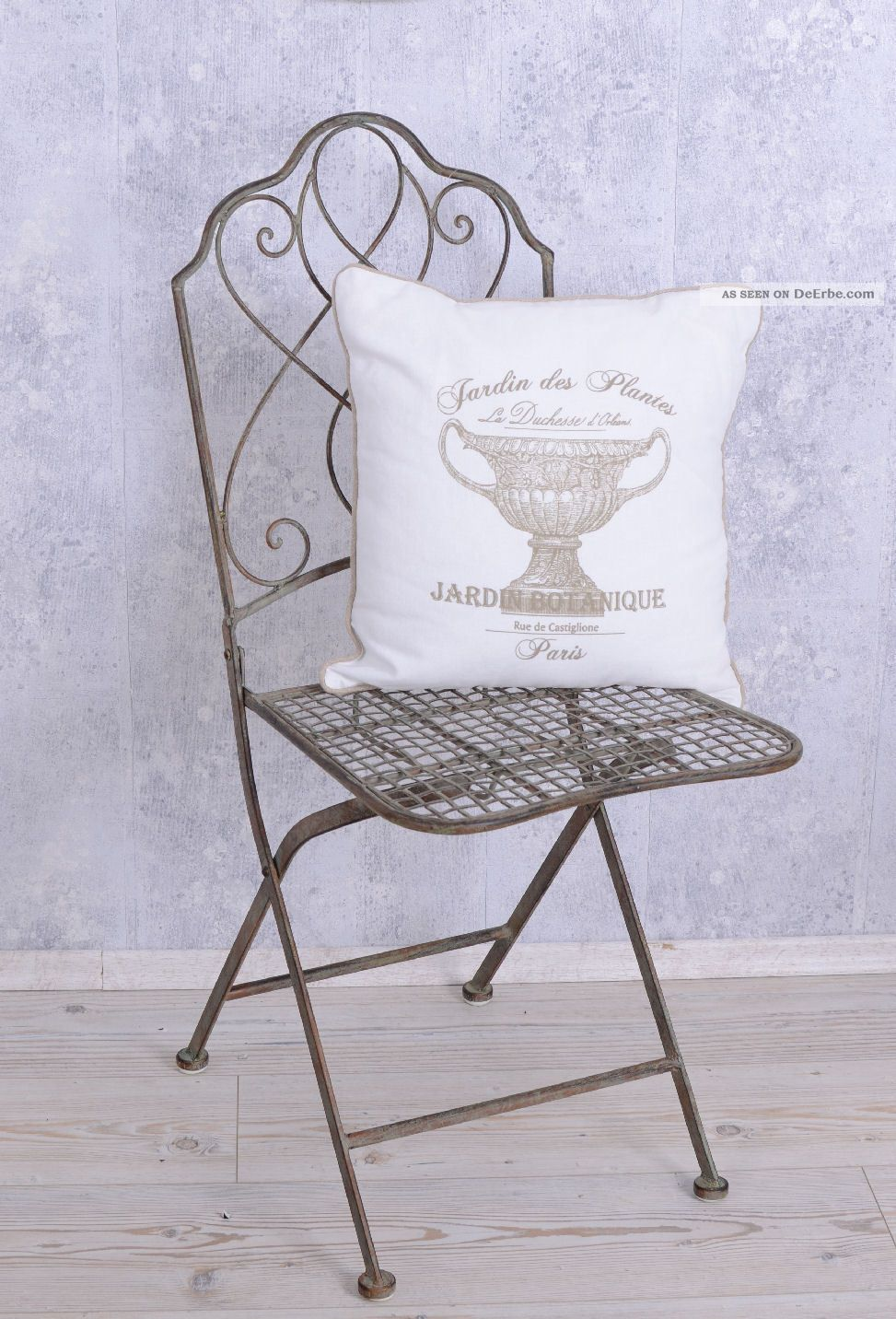 eisenstuhl landhausstil garten stuhl gartenm bel antik. Black Bedroom Furniture Sets. Home Design Ideas