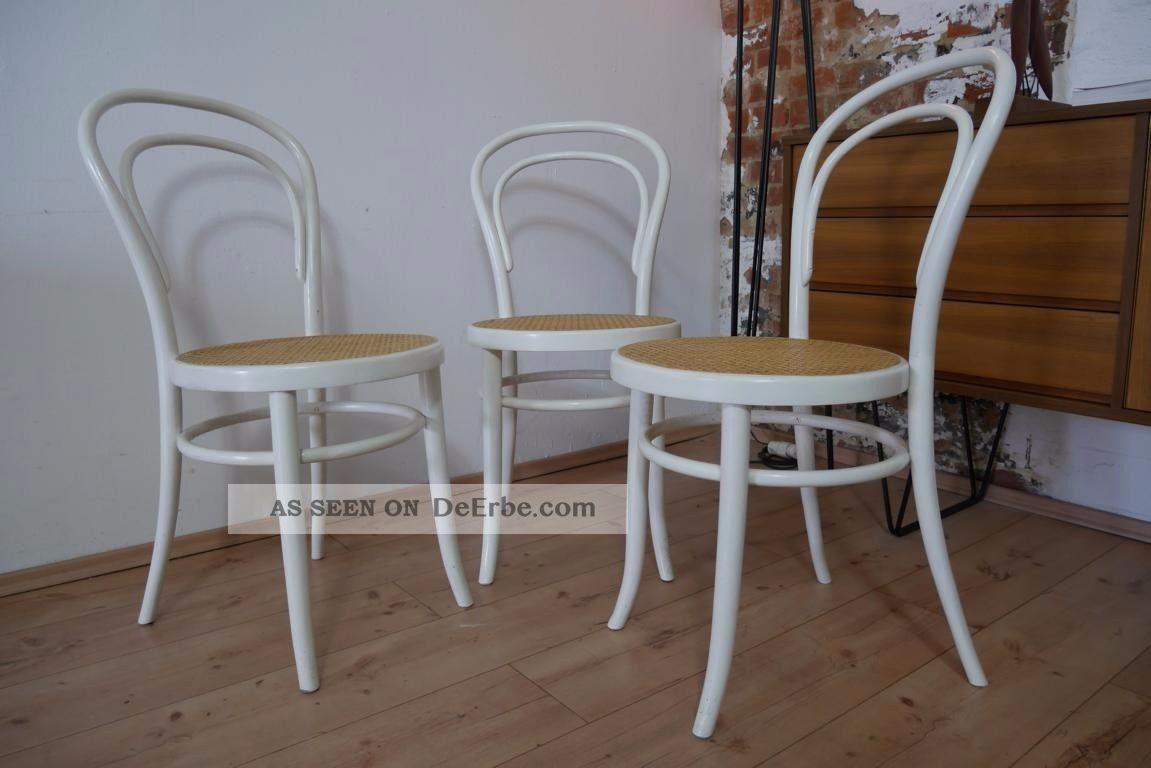 Bugholz Wiener Stühle Weiß Kaffeehaus Mit GeflechtIn X Stuhl 3 34cLARq5j