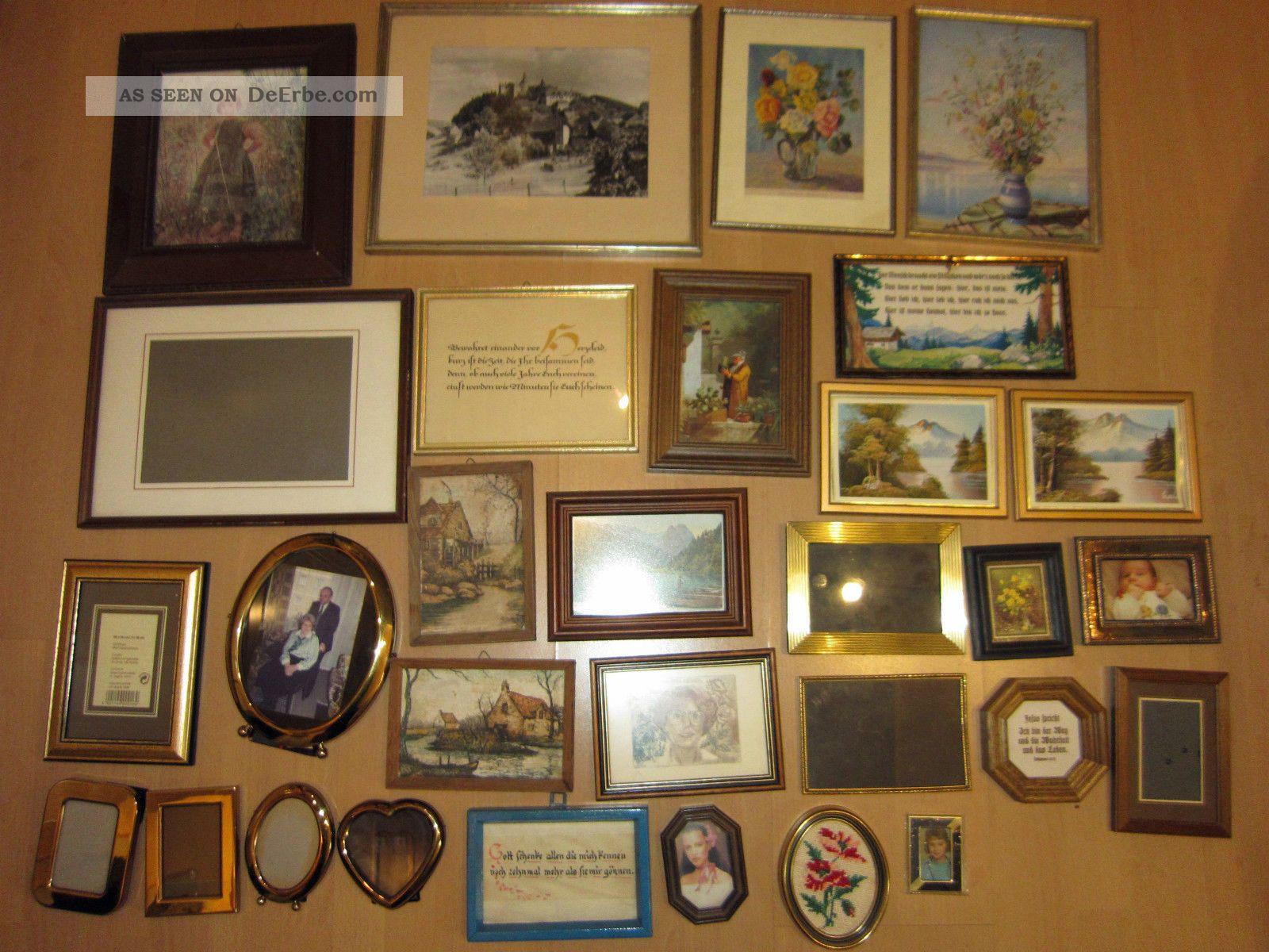 Bilderrahmen Holz Und Metall ~ 30 Antike Bilderrahmen  Metall Und Holz  Groß Und Klein  Nachlass