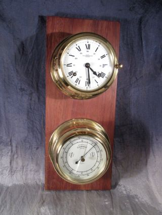 Wempe Chronometerwerke Hamburg,  Glasenuhr,  Barometer,  Mechanisch Bild