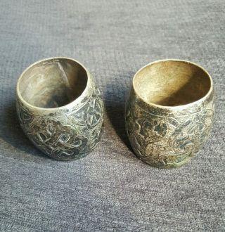 Objekte Vor 1945 Serviettenhalter Antik 800er Silber Rar