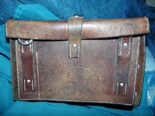 Alte Ledertasche,  Tasche,  Schulranzen,  Asm 67306,  H.  Wattinger,  Huttwilen 59,  Vintage Bild