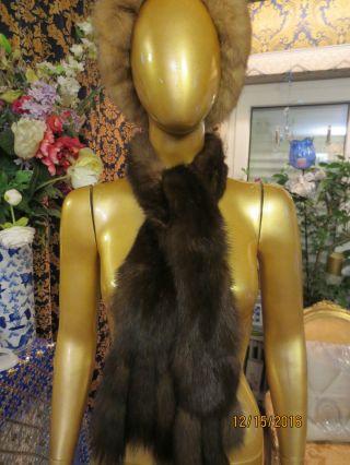 Rusischen Bargusin Zobel,  Sable Fur Stola,  Schal,  Krawatte Pelz 2 St.  155 Cm Lang Bild