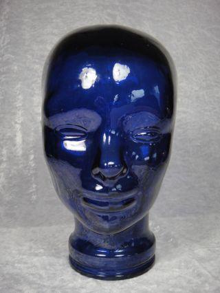Retro 70er Jahr Schwerer Glas Kopf Blau Ca.  28,  5 Bild