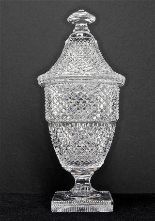Großer Glaspokal,  Deckeldo40,  Massives Glas,  Aufwendig Geschliffen,  Höhe 40 Cm. Bild
