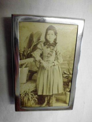 Kleiner Vintage Bilderrahmen Aus 833 Silber/small Vintage Picture Frame - Silver Bild