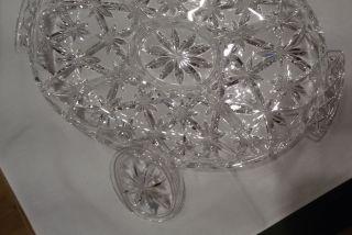 Servierplatte,  Bleikristall,  Oval Mit 5 Fächern,  36cm X 23,  5cm Bild