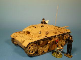 Orig.  Lineol (elastolin) Wehrmacht – Metall – Sturmgeschütz Iii - Für 7cm Figuren Bild