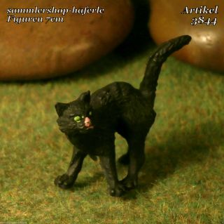 Hausser Elastolin Haustier Schwarze Katze 7cm Serie Art.  3844 Bild