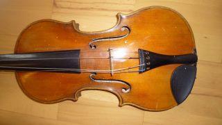 Alte Geige Violine Violin 4/4 Geige - Aus Sammlungsauflösung Bild