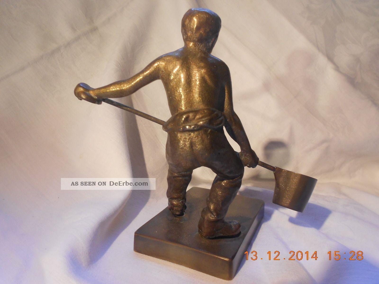 Antike Bronze Figur Statue Metall Giesser Neue Sachlichkeit Verismus 1920 30