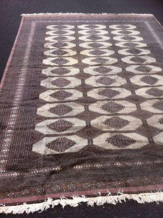 Echter Handgeknüpfter Perser Buchara Oriente Teppich 338x233 Seide Fein Rug Bild