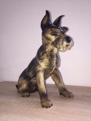 Goebel Porzellen Figur Hund Schnauzer Glänzend Gestempelt 29 Cm Bild