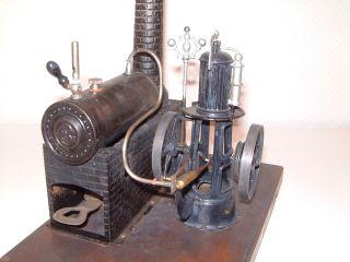 Bing Dampfmaschine Mit Imitierten Schiffsmotor - Rarität Um 1900 Bild