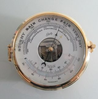 Barometer Schiffsbarometer Schatz Messing Sammlerstück Bild